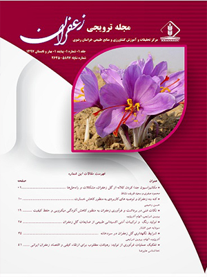 نشریه ترویجی زعفران